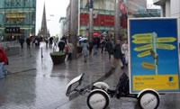 海外のエコ自転車広告導入事例:イギリス保険会社最大手「NORWICH UNION」