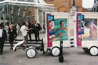海外のエコ自転車広告導入事例:スパ・リゾート・グループ世界最大手「Champneys]