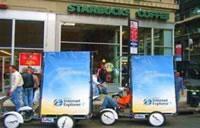 海外のエコ自転車広告導入事例:マイクロソフト社